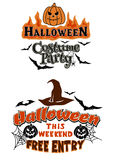 Halloween Party theme graphics Royalty Free Stock Image