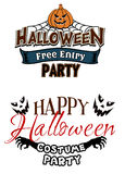 Halloween party themes with monsters Stock Image
