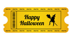 Halloween Party Ticket Stock Image