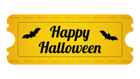 Halloween Party Ticket Royalty Free Stock Image