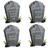 Halloween Party Tombstone Stock Image
