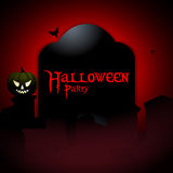 Halloween party tombstone background Royalty Free Stock Photo