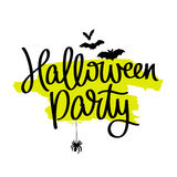 Halloween party. The trend calligraphy Royalty Free Stock Photography