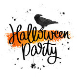 Halloween party. The trend calligraphy Royalty Free Stock Photos
