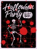Halloween Party typographical vintage grunge style poster. Retro vector illustration. Halloween Party typographical vintage grunge style poster. Vector Royalty Free Illustration
