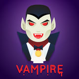 Halloween Party Vampire Role Character Bust Icons Stock Photos