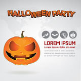 Halloween Party Vector Concept Full Moon Land Royalty Free Stock Photo