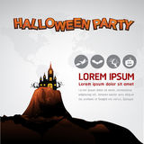 Halloween Party Vector Concept Full Moon Land Stock Photo