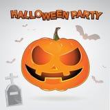 Halloween Party Vector Concept Full Moon Land Stock Photo
