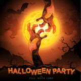 Halloween Party Vector Concept Full Moon Land Stock Image