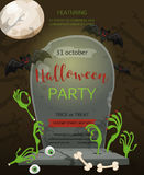 Halloween party. Vector illustration Royalty Free Stock Photography