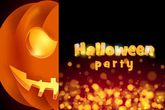 Halloween party. Vector illustration for halloween, pumpkin, mystical background Stock Images