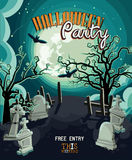 Halloween party vector invitation card Stock Photography
