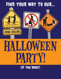 Halloween Party Vector Template Royalty Free Stock Images