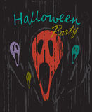 Halloween party vintage grunge background vector Royalty Free Stock Photography