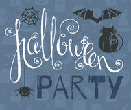 Halloween party vintage grunge poster Stock Photos