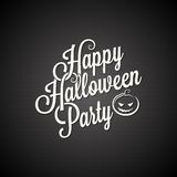 Halloween party vintage lettering background Royalty Free Stock Images