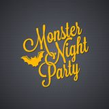 Halloween party vintage lettering background Royalty Free Stock Photos