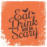 Halloween party vintage lettering background. royalty free illustration