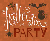 Halloween party vintage poster Stock Image
