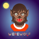 Halloween Party Werewolf Role Character Bust Icons Royalty Free Stock Image