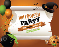 Halloween Party Witch Background Royalty Free Stock Images