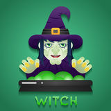 Halloween Party Witch Role Character Bust Icons Royalty Free Stock Image