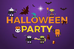 Halloween Party word design Royalty Free Stock Images