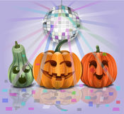 Halloween Partying Pumpkins Royalty Free Stock Images