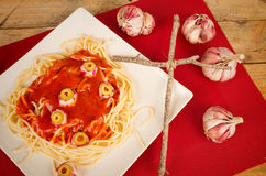 Halloween pasta Stock Photos