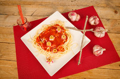 Halloween pasta Royalty Free Stock Image