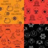 Halloween-patronen royalty-vrije illustratie