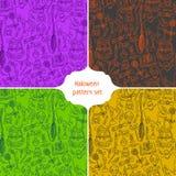 Halloween-patroonachtergrond Stock Afbeeldingen