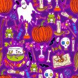Halloween-patroonachtergrond Royalty-vrije Stock Afbeeldingen