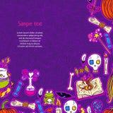 Halloween-patroonachtergrond Stock Fotografie