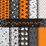 Halloween-patroonreeks stock illustratie