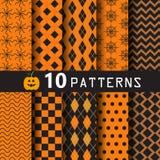 Halloween-patroonreeks Stock Afbeeldingen