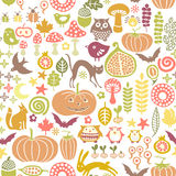 Halloween pattern. Seamless halloween pattern with bats and pumpkins Stock Image