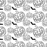 Halloween pattern background icon Stock Image