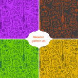Halloween pattern background Stock Images
