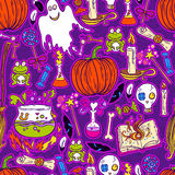 Halloween pattern background Royalty Free Stock Images