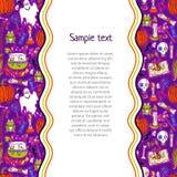 Halloween pattern background Stock Image