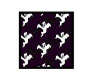 Pattern black bats, white ghost on violet background. Halloween pattern black bats, white ghost on violet background Stock Images