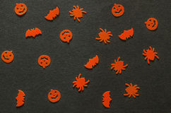 Halloween pattern black Stock Images