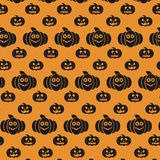 Halloween pattern with carved pumpkins with different emotions. For web design and application interface, also useful for infographics. Vector illustration stock illustration