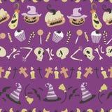 Halloween pattern 01 Stock Photos