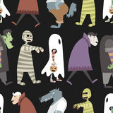 Halloween pattern 04 Stock Images