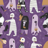 Halloween pattern 05 Stock Images