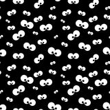 Halloween  pattern with eyes over black background Stock Photography
