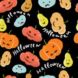 Halloween pattern. Festive Halloween pattern on a black background Royalty Free Stock Images